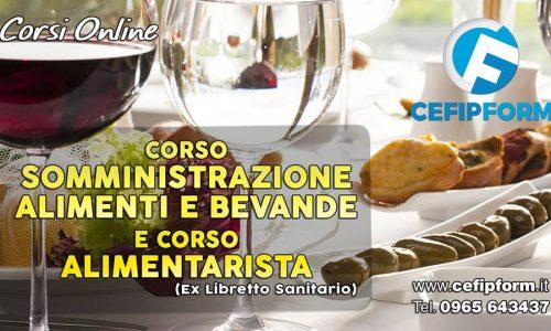 CORSO SAB ex REC Online Somministrazione Alimenti Bevande Valido in Tutta Italia